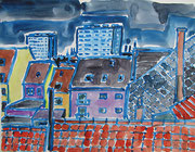 Blick Richtung oostende, Aquarell 2011, 24x32cm