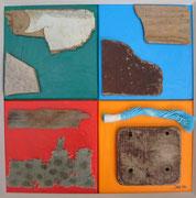 Bretonische Quadrate, 2006, 40x40cm, unverkäuflich, Besitz Stadt Waldenbuch
