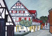 Waldenbuch, altes Pfarrhaus-Musikschule, 2014, 42x60cm