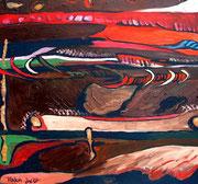 Verdun Schlachtfeld 1916, 2007, 60x56cm
