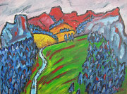 Aufstieg Tegelberg, 2003, 30x40cm