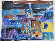 Waldenbuch Altstadt, Aquarell 2011, 32x24cm