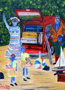 Die Urlauber, 1984, 30x40cm