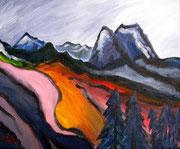 Berge bei Garmisch, 2003, 50x60cm, unverkäuflich Privatbesitz Friedrichshafen