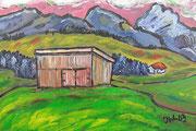 Hütte bei Prem, 2003, 20x30cm, unverkäuflich Privatbesitz