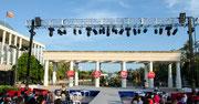 El escenario, en el Palau de la Música