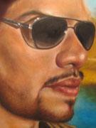 Retrato de Edgar Israel Quintana Beltrán*Oleo sobre lienzo*120 X 100 cm*retrato con paisaje