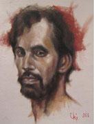 Oleo. Retrato de un hombre****ejercicio en oleo***