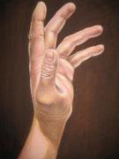 Estudio de mano* Oleo sobre lienzo* 30 X 45 cm
