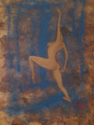 ¨Danzante desnuda¨ *Oleo sobre papel Amate