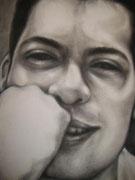 Quintana*carbón sobre lienzo*100 X 90 cm