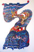 Sarape, 146x97 cm, acrylique et huile sur lin