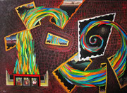 La visión de los vencidos, 100x73 cm, 2009, acrylique sur lin. (Collection Privée, Sarlat)