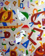 """""""Chispa"""" 73x60cm acrylique sur lin, 2014."""