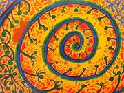 Ojo de venado (œil de cerf), 40x30 cm Acrylique sur toile. (Collection Privée, Rennes)