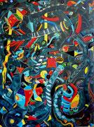 """"""" Grieta Matinal """" 130x97 cm Acrylique et huile sur lin. 2014."""