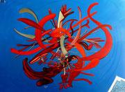 """"""" Pirulí """" 97x130 cm, acrylique et huile sur lin, 2014."""