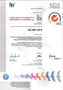 Zertifikat Qualitätsmanagementsystem nach DIN EN ISO 9001-2015