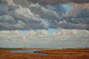 Himmel über dem Ijsselmeer II, Pastel, 50x70cm, 2014