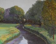 Studie: Morgens am Neustädter Tief,  Pastell auf Pastelcard, ca. 40x50cm, 2011, Private Collection