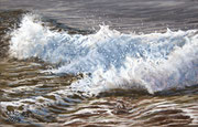Wave II, Pastel, 21x32cm, 2014