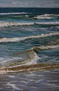 Spiel der Wellen, Pastell auf Pastelcard, ca. 60x40cm, 2011