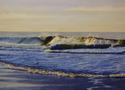 Morning Surf, Pastel on Pastelmat, 50x70cm, 2012, Private Collection.