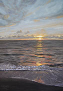 Sunset at the Beach, Pastel on Pastelmat, 70x50cm, 2012, Private Collection