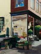 Flower Shop Alkmaar, Pastel on Pastelmat, 55x40cm, 2013, Collection of the Artist