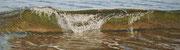 Wave IV, Pastel, 26x97cm, 2015