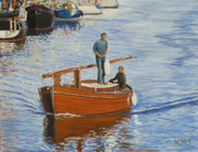 Holzboot, Pastell auf Sandpapier, ca. 30x40 cm, 2010, Private Collection