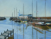 Noorderhaven Harlingen,  Pastell auf Sandpapier, ca 30 x 40cm, 2010, Private Collection