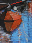 Small Fishing Boat Makkum Harbour,  Pastel on Pastel Card, 40x30cm, 2011