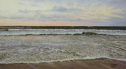 Evening Light Baltic Sea, Pastel on Pastelmat, ca. 40x70cm, 2013, Private Collection