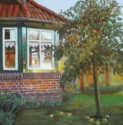 Abendsonne Sömmerdieksweg, ca. 30x30cm, 2011, Private Collection