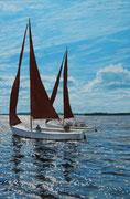 Summer Afternoon, Pastel on Pastelmat, 60x40cm, 2014