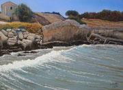 Anse de Sainte-Croix, Pastel, 50x70cm, 2014, Collection of the Artist