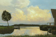 Evening Clouds, Pastel on Pastelcard, 40x60cm, 2012, Private Collection