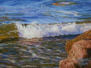 Wave I, Pastel, 22x32cm, 2014