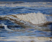 Nordseebrandung,  Pastel on Sanded Paper, 40x50cm