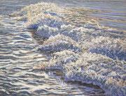 Breaking Wave - Foam, Pastel, 34x46cm, 2014