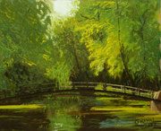 Studie, Brücke am Schloß Gödens, Pastell, ca. 30 x 40 cm, 2012, Private Collection