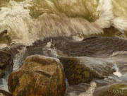 Breaking Wave IJsselmeer, Pastel on Pastelcard, ca. 30 x 40 cm, 2011