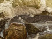 Breaking Wave IJsselmeer, Pastel on Pastelcard, ca. 30 x 40 cm, 2011