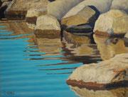 Steine im Wasser, Pastel on Pastelcard, 30x40cm, 2010