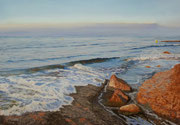 Morning Light Cote Bleu, Pastel, 50x70cm, 2014