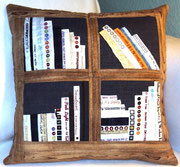 Holzbücherkissen, 40x40