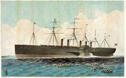 大西洋を横断した巨大蒸気船、《グレート・イースタン》(1858年)