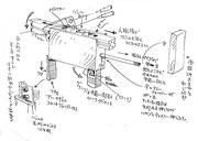 「新宿鮫」ショルダーホン銃デザイン画