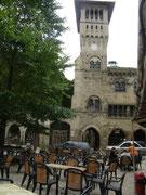 Saint Antonin Noble Val (82), Terrasse café, musée et Beffroi